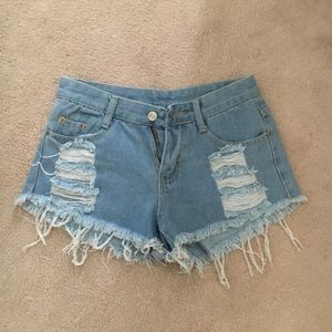 Zaful ripped jean shorts